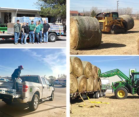 WE Sent Tractor Donations to Woodward, OK