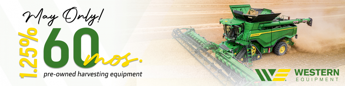 1.25% for 60 Months on ALL Used Harvesting Equipment